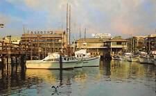 San Francisco Fisherman's Wharf, cloudy day fishing fleet, Alioto's Tarantino's