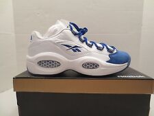REEBOK QUESTION LOW R13 White Royal Basketball sneaker shoe men size 8.5 IVERSON