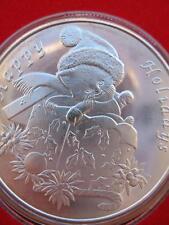 1-OZ.999 SILVER VINTAGE 2000 CHRISTMAS KITTEN  SILVERTOWNE GIFT BOX COIN +GOLD