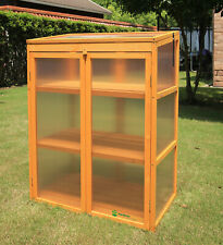 Gardens Imperial® Buckingham 3-tier Wooden Mini Greenhouse with Polycarbonate Pa