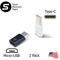 2-Pack 3.1USB Type C Male to Micro USB Female Adapter Converter Connector USB-C