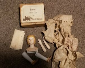 NOS YIELD HOUSE DOLL KIT ROMEO PORCELAINE HEAD,LEGS,ARMS 3138153
