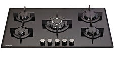 MILLAR GH9051PB 5 Burner Built-in Gas on Glass Hob 90cm with Wok Burner