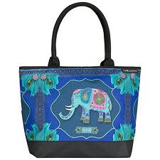 Borsa Colorata Blu ARTE DA DONNA SHOPPER BAG EVA Maria Nitsche BLUE ELEPHANT 4209