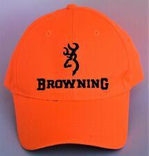 Browning Firearms Baseball Cap Hat Hunting Fishing One Size Strapback Orange