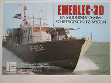 6/1978 PUB EMERSON ELECTRONICS SPACE EMERLEC-30 NAVAL SYSTEM ORIGINAL GERMAN AD
