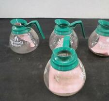 Maxwell House Glass Coffee Pot Carafe Decanter Server Decaf Green Schott Germany
