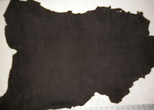 Thin BLACK Lambskin Suede Leather Hide 4.4 sqft avg .5mm thick  #121243