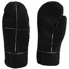 8af8fcc17 Ladies Mittens Gloves Suede Leather Sherpa Lined Warm Soft Winter Fur Comfy  Knit