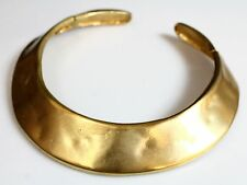 Vintage VALENTINO Couture Egyptian Revival Hammered Hinged Collar Necklace