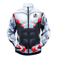 Avengers 4 Endgame 3D Print Superhero Sweatshirt Cosplay Costume Zip Jacket Coat