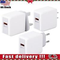 3A Fast Quick Charge QC3.0 USB Hub Wall Fast Charger Adapter UK EU US Plug