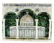 Wall Mother Pearl Al Aqsa mosque Scene handmade Art Wall Hanging Panel Shell 3D