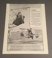 VICKERS ARMSTRONGS MANUFACTURERS SALES BROCHURE SPITFIRES FOR AIR SEA RESCUE