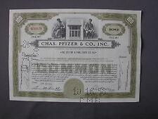 Chas. Pfizer & Co. Inc. - Stock Certificate - azione Aktie acción share action