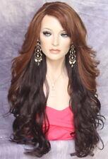 Long Brown Auburn Wig What a Bombshell! Goregeous wavy Heat Safe  WBVA Chestnut