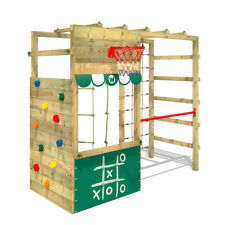 Klettergerüst Spielturm WICKEY Smart Action Kinder Turngerüst grün Kletterturm