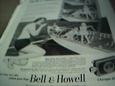 ephemera 1951 advert bell & howell chicago 45 camera vacation a lifetime