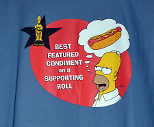 Vintage 2000 HOMER SIMPSON HOMEY AWARD HOTDOG  XL T SHIRT THE SIMPSONS GROENING