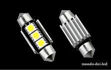 1x Lampada targa/interno siluro a 36mm 3 SMD CANBUS NO-ERROR T11 C5W 6000 K