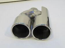 2 x 80 mm runde gerade  Supersport Edelstahl Endrohre  mit ABE als  200mm lang