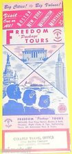 Freedom Package Tours 1954 Boston New York Montreal - Great Pictures! See!
