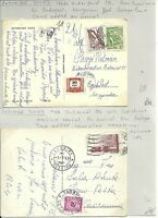 1958 ITALY & 1960s HUNGARY POSTAGE DUE STAMPS ON INTERNAL & EX YUGOSLAVIA PPCs