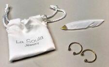 New La Soula Two-Diamond Rings in GOLD Rachel Zoe Box Of Style. Retail $176.00