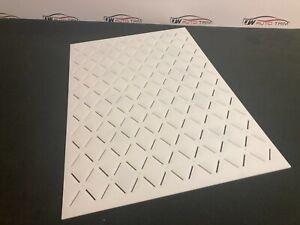 Car Upholstery - Trimming  stitch 50x80 diamond pattern template 3mm acrylic.