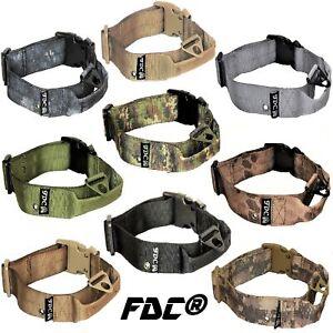Heavy Duty Dog K9 Tactical Collar Military Handle Medium Large Plastic Buckle