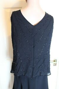 Marks and Spencer Size 20 Black Sleeveless Sequined Top