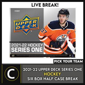 2021-22 UPPER DECK SERIES 1 HOCKEY 6 BOX BREAK #H1291 - PICK YOUR TEAM -