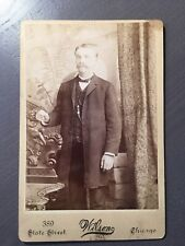 Cabinet Card Of Young Gentleman By Wilson Chicago Fab Backdrop Mr.Elliat