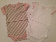 Burts Bees Organic Baby Girl 2 Bodysuits Pink Size 3 6 9 12 18 Months Layette #2