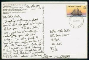 Mayfairstamps Pitcairn Island FDC 1992 to St Paul MN HMS Blossom Card wwi_77349