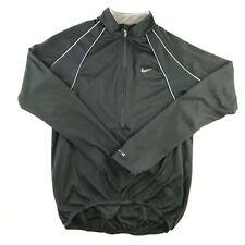NIKE ACG Mens Size Small CYCLING Shirt Black half zip Bike Jersey Athletic EUC