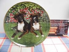 "Danbury Mint Plate by Simon Mendez "" Togetherness "" The Boxer Dog"