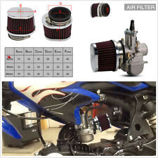 2pcs 50mm Intake Air Filter Red For Motorcycle Cleaner Replacement Parts Motor