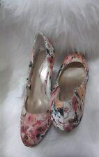 "Christian Siriano Floral Print  4"" High Heel Round Stiletto Size 11"