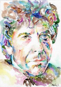 LEONARD COHEN - Original Watercolor Portrait Painting - Artwork