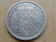 1 gulden, Wilhelmina, 1913, zilver, prachtig