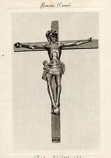 Carte Double BOUSSAC avec feuillet historique double Christ en Bois Ste Anne