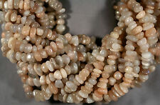 "NATURAL ADULARESCENT MOONSTONE NUGGET BEADS 8-15MM 16"" STR PEACH WHITE GRAY"