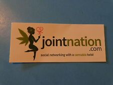 Ganja Marijuana Pot STICKER ~*^ Joint Nation Social Networking w/ Cannabis Twist