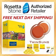 Rosetta Stone® LEARN ENGLISH AMERICAN 1 2 3 4 5 SOFTWARE + DIGITAL DOWNLOAD NEW!