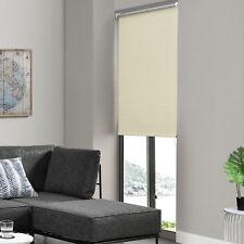 Tenda Rullo Cordino Laterale 80x230cm Crema SENZA FORI Oscurante Clip Easy Fix