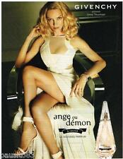 PUBLICITE ADVERTISING 095 2009  GIVENCHY parfum  ANGE OU DEMON  avec UMA THURMAN