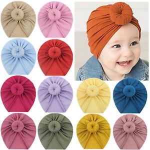 Infant Baby Beanie Turban Hat Bow Knot Cap Newborn Head Wraps Kids Knot Headband