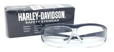 Harley Davidson HD400 Honeywell Safety Glasses Black Frame Clear Lens