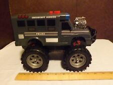 Vintage Battery Operated Emergency Service Police Sheriff Monster Vehicle